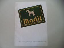 advertising Pubblicità 1950 MAGLIERIA DI LUSSO MADIL - MILANO