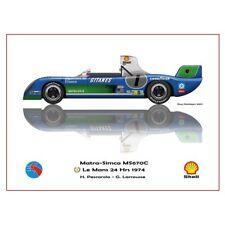 Print on paper Matra Simca MS670C #7 Pescarolo / Larrousse Winners 24h LM 1974