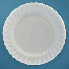 Vintage Anchor Hocking Fire King Milk White Swirl Dinner Plates Dinnerware