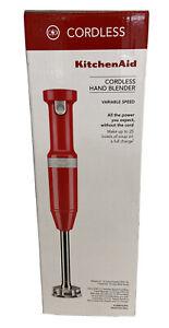 KitchenAid Cordless Variable Speed Hand Blender KHBBV53PA (Passion RED)