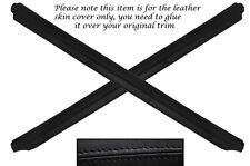 BLACK LEATHER 2X DOOR SILL TRIM SKIN COVERS FITS MAZDA MX5 MK1 MIATA 89-97