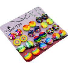 Glass Dome Magnetic Clip-on Earrings for Teen Girls Kids Women non-pierced Ears