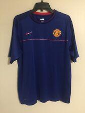 Manchester United Nike Fit Dry Blue EPL Premiere League Soccer Jersey - Men's L