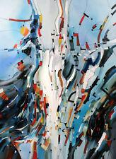 "Moderne Ölgemälde Titel "" BLUE JAZZ ""  Unikat von Bozena Ossowski 150x110 cm"