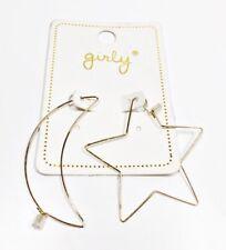 Girly Moon & Star Hoop Earrings