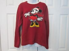 Disney Store Minnie Mouse Applique Winter Christmas Holiday Sweater Ladies L