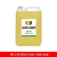 5L SUNFLOWER OIL PREMIUM Cold Pressed Natural Carrier/Base 5 Litre