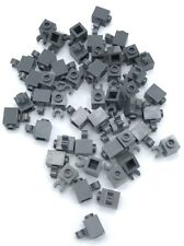 Lego 50 New Dark Bluish Gray Bricks Modified 1 x 1 with Clip Vertical Pieces
