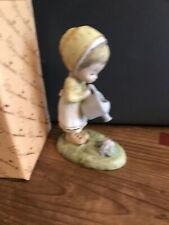 Betsy Clark Shower Of Love Watering Can Hallmark Porcelain Figurine Vintage