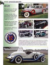 1932 Stutz DV32 + Cabriolet + Sedan + Super Bearcat +Bearcat Article - Must See