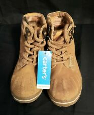 *NEW WITH TAG*  Carter's Toddler Boy's Suede Work Boots Size 6 Beige
