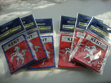 6 X KENT INVICTA CLOTH BADGE X 3 RED +3 BLUE *STITCH SEW ON *CLASSIC SAMPSON*NEW