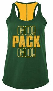 New Era Green Bay Packers Go Pack Go Women's Tank Top, Large