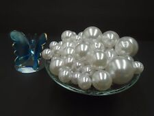 80 Faux Pearl Vase Filler Plastic Beads for Wedding Table Decor Centerpieces
