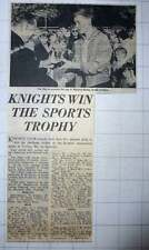1960 Michael Burke South London Receives Cup , The Mayor Knights Club