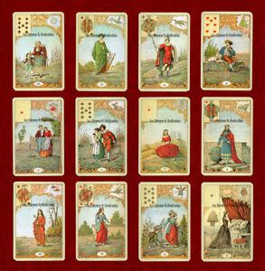 TAROT-JEU DIVINATOIRE-ORACLE LE JEU DU DESTIN ANTIQUE 32 Cartes par PIATNIK