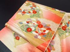 Japanese Kimono SILK FUKURO OBI  BIRD TURU CRANE  (4350-540)