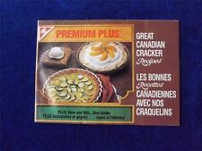 PREMIUM PLUS GREAT CANADIAN CRACKER RECIPES BOOKLET VINTAGE 1985 COUPONS