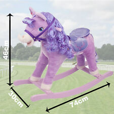 Lilac Kids Rocking Horse Pony Moving Mouth Sounds Children Boys Girls