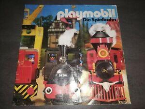 Playmobil Katalog Eisenbahn  Anleitung LOK WERBEHEFT von 1987 Zubehörkatalog