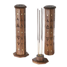 Octagonal Wood Tower Incense Stick Burner/Ash Catcher, Buy 6+ Items Get 20% Off!