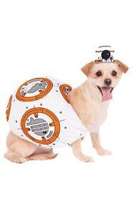 Disney Star Wars BB-8 Pet Costume Rubies Small Headpiece Tunic Halloween NEW