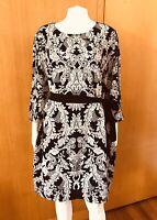 Tokito-Long Sleeve-Shift Dress with Pockets-Size 14
