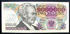 "🍀🇵🇱 🍀 POLAND 2000000 Zloty, 100 % UNC (New) 1992 with error ""KONSTYTUCYJY"""