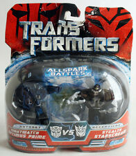 RARE TRANSFORMERS ALL SPARK BATTLES NIGHTWATCH OPTIMUS PRIME VS STEALTH NEW !