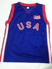 CANOTTA BASKET USA TAGLIA L / XL JERSEY BANDIERA U.S.A. BASKETBALL CANOTTIERA