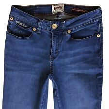 Ladies Superdry Premium Super Skinny Crop jeans Size UK 6 W26 (478)