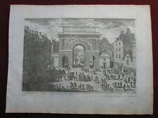 Adam Perelle: Porte Saint-Martin Paris 1680/Print Triumphal Arch Radierung