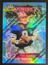 1995 Topps Finest Refractor Troy Aikman #185 HOF Cowboys