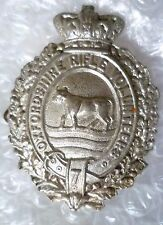 Badge- VICTORIAN Oxfordshire Rifle Volunteers Cap Badge QVC Cast WM (Org*,RARE*)
