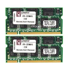 2GB 2X1GB DDR PC2700 DDR1 333MHz 200Pin CL2.5 Sodimm Laptop Memory Ram