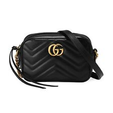 Gucci 448065 DTD1T 1000 Calfskin Marmont matelassé mini bag - Black