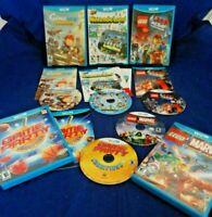 Wii U;LEGO Movie Videogame,Nintendo Land,Scribblenauts,Game Party,w/Manuals,+,VG