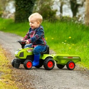 Baby Claas Sit n Ride Tractor and Trailer Ride On Kids Boys Girls Garden Toy