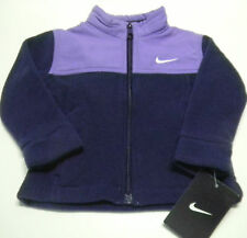 NIKE Nordic Denali Fleece Full Zip fleece sz 18 mos. NEW NWT purple swoop #1