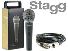 Stagg SDM50 Professional High Quality Handheld Wired DJ Microphone + FREE 5M XLR