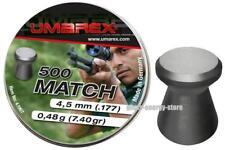 500 Umarex Match Diabolos Diabolo 4,5mm Flachkopf für Luftgewehr Luftpistole