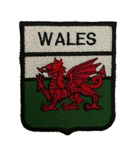 Wales Welsh Dragon Iron or Sew on Embroidered Patch (A)