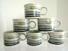 Vintage Midwinter Stonehenge Night 6 Coffee Cups