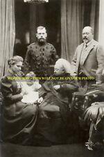 mm558a - Queen Victoria - Russian Czar - EVII - Alexanda - Edward VII  photo 6x4