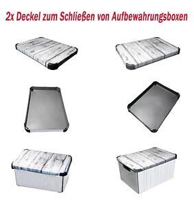Deckelboxen Deckel f.Aufbewahrungsboxen 2x Kistendeckel Geschenkbox Ersatzdeckel