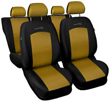 Car seat covers fit Fiat Grande Punto - full set gold / black sport style