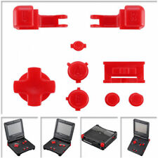 Solid Red Color Design Replacement Kit Buttons for Nintendo Game Boy Advance SP
