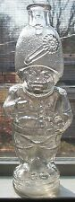 ***L@@K FIGURAL SOLDIER STANDING ON CANNONBALL MOLD BLOWN 1880S SWORD HAT NEAT!!