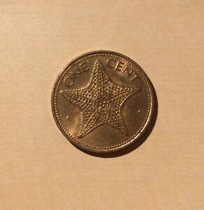 "Bahamas One Cent 1980 ""You Grade It"" - Starfish"