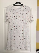 & Other Stories White Embroidered Mini Dress Size 10